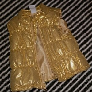 Gold Puffer Vest, 12mo